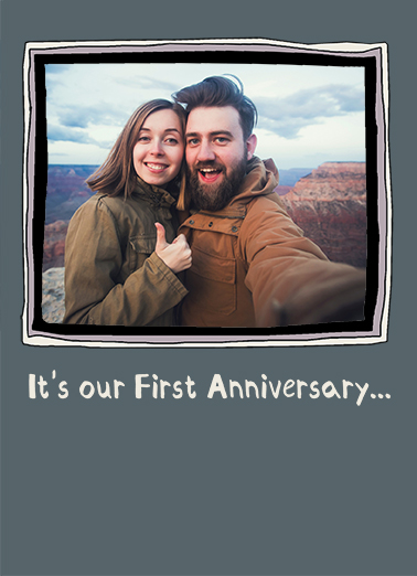 1st Anniversary 5x7 greeting Card Cover