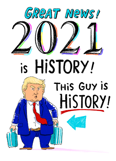2020 is History Birthday Card Cover