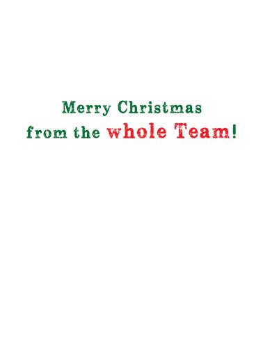 3 Reindeer Christmas Card Inside