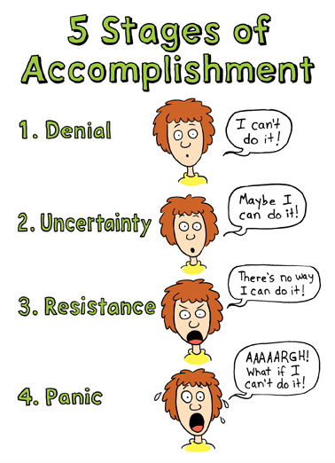 5 Stages Accomplishment Congratulations Ecard Cover