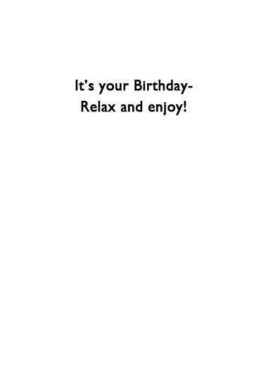 6 Feet Apart Birthday Card Inside