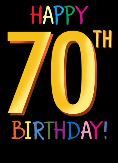 70th Birthday Card Cover