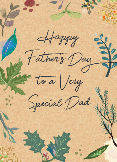 A Very Special Dad Father's Day Card Cover
