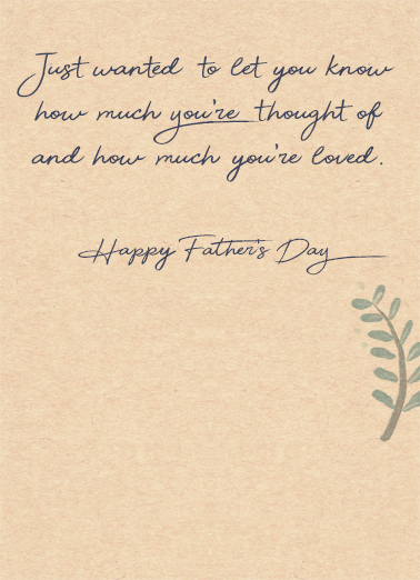 A Very Special Dad Father's Day Card Inside