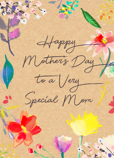 A Very Special Mom Mother's Day Card Cover