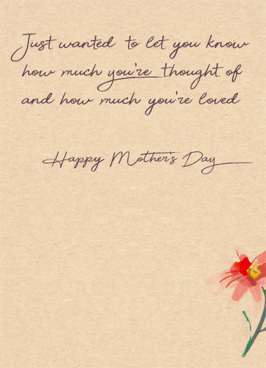 A Very Special Mom Mother's Day Card Inside