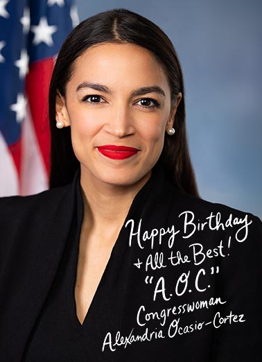 AOC Autograph Birthday Card Cover
