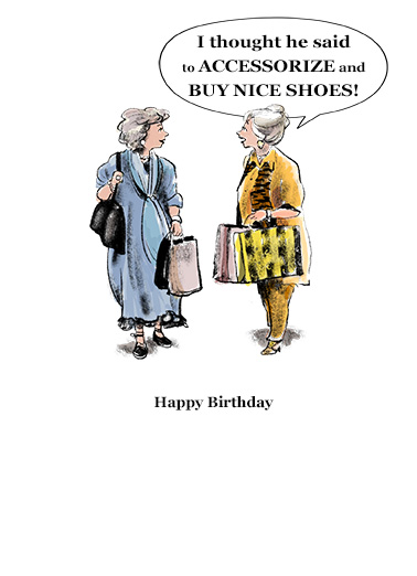 Accessorize Shoes Birthday Ecard Inside