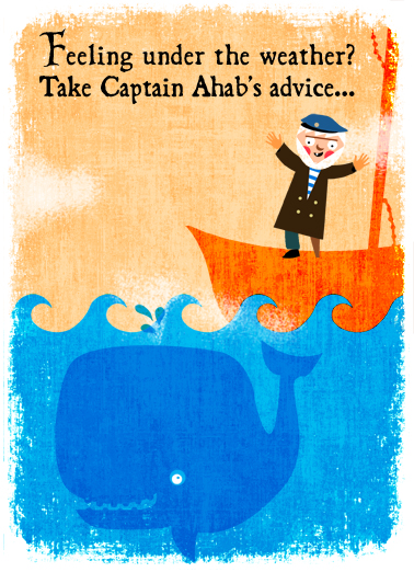Ahab's Advice Get Well Card Cover