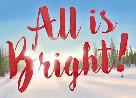 All Bright Christmas Ecard Cover