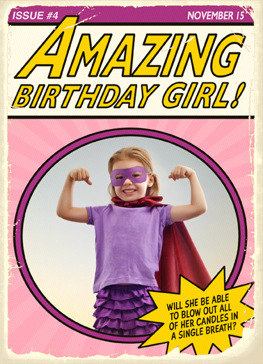 Amazing Birthday Girl  Card Cover