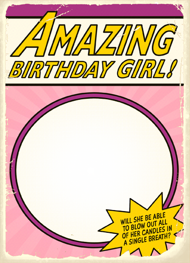 Amazing Birthday Girl Birthday Card Cover