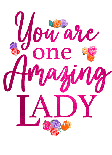Amazing Lady Birthday Card Cover
