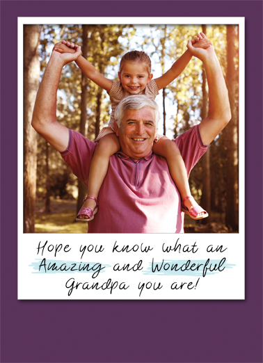 Amazing Wonderful Grandpa Upload FD Father's Day Ecard Cover