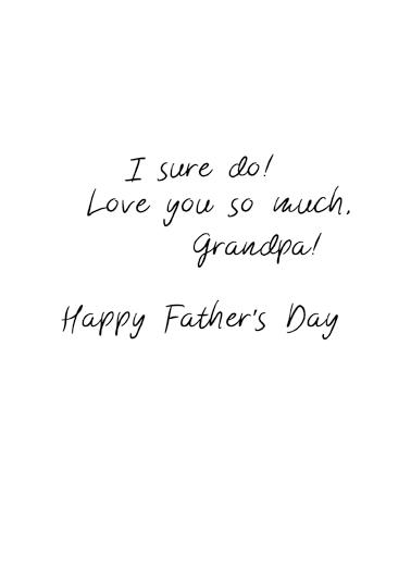 Amazing Wonderful Grandpa Upload FD Father's Day Ecard Inside