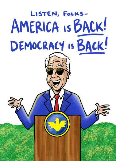 America Is Back Birthday Card Cover