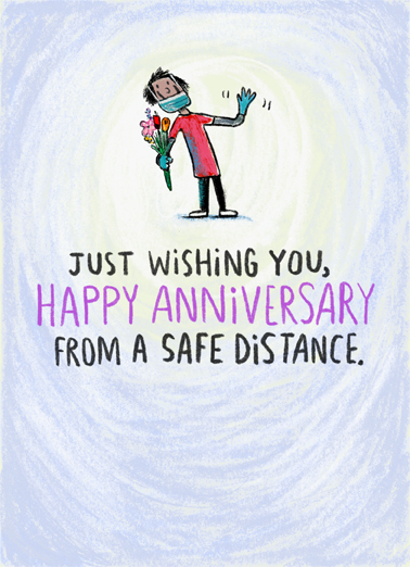 Anniversary Distance Anniversary Card Cover