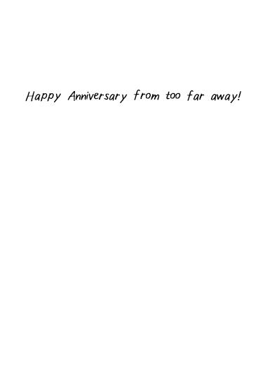Anniversary Distance Anniversary Card Inside
