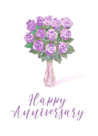 Anniversary Rose Bouquet One from the Heart Card Cover