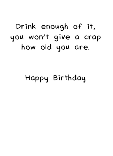 Anti Aging Birthday Card Inside