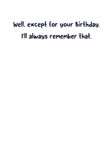 April Already Birthday Card Inside