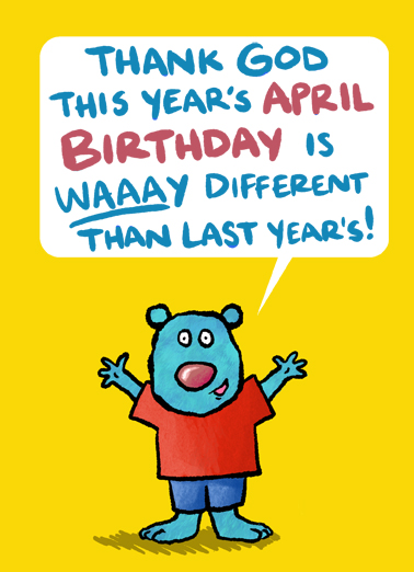 April Bday Critter April Birthday Card Cover