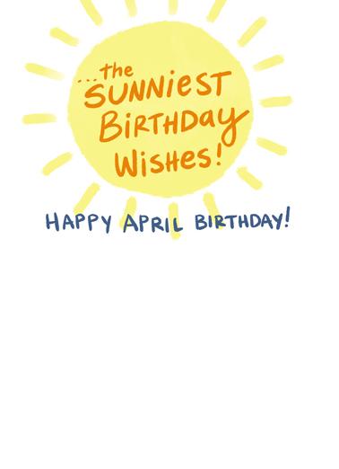 April Showers Bring April Birthday Card Inside
