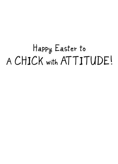 Attitude (Easter) Easter Ecard Inside