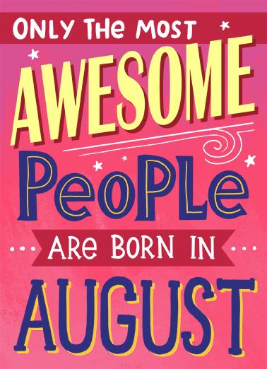 August Birthday Birthday Card Cover