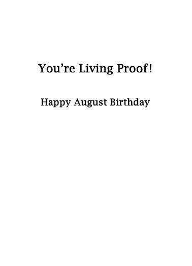 August Birthday Birthday Card Inside