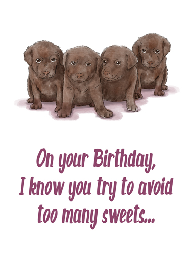 Avoid Sweets Birthday Card Cover