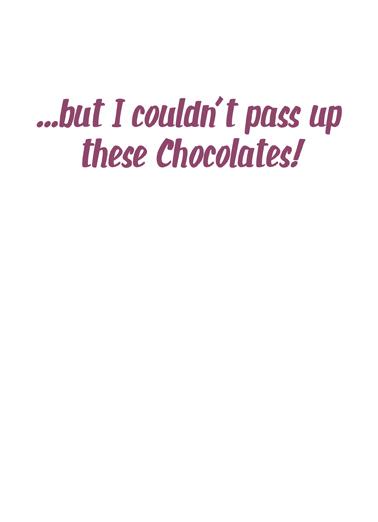 Avoid Sweets Birthday Card Inside