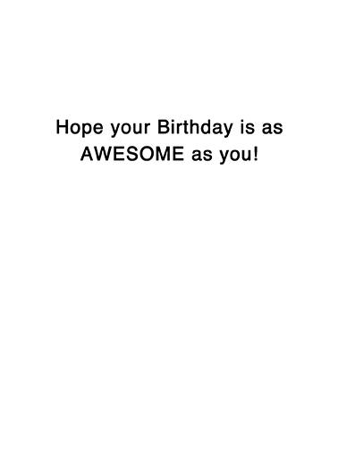 Awesome Gal Birthday Card Inside