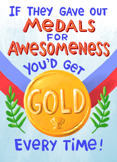 Awesomeness Medal Birthday Card Cover