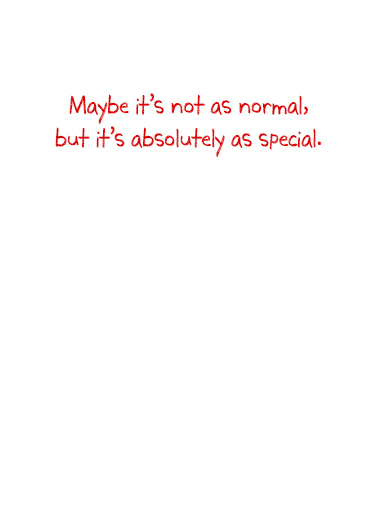 Back to Normal Valentine  Card Inside