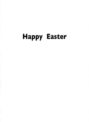Bad Egg Easter Ecard Inside