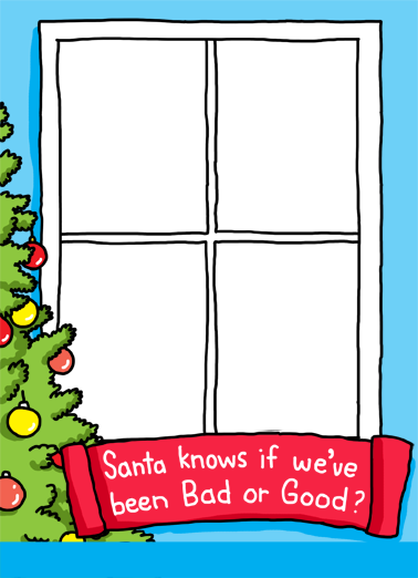 Bad or Good Christmas Card Cover