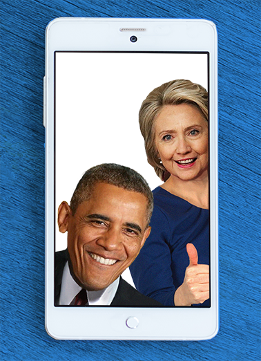 Barack and Hillary Selfie Funny Political Ecard Cover