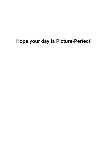 Barack and Hillary Selfie Birthday Card Inside