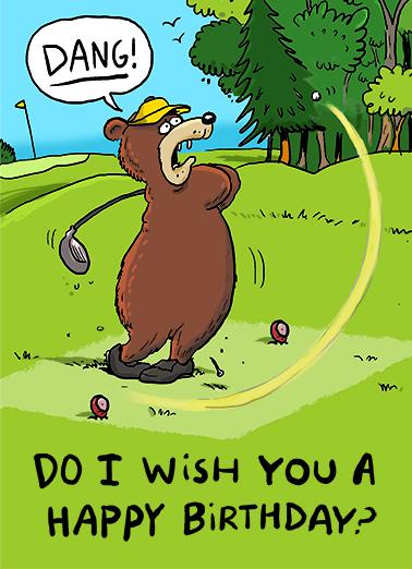 Bear Hit Birthday Card Cover