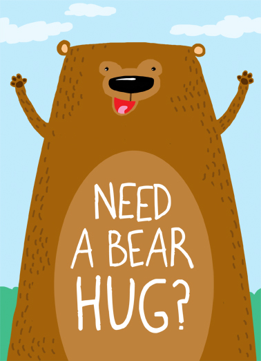 Bear Hug Miss You Ecard Cover