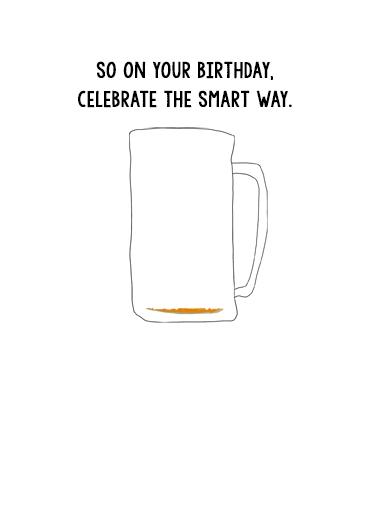 Beer Brain Cells Drinking Ecard Inside