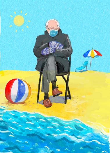 Bernie Beach July Birthday Ecard Cover