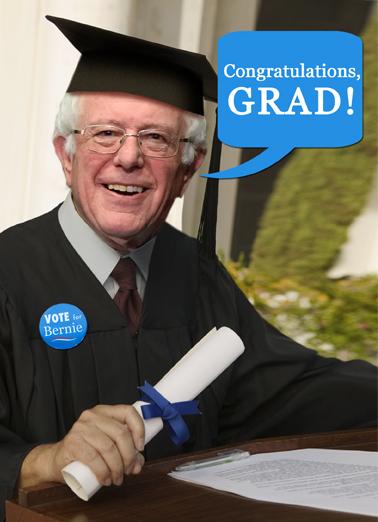 Bernie Congrats Graduation Ecard Cover
