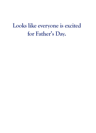 Bernie Fathers Day Father's Day Card Inside