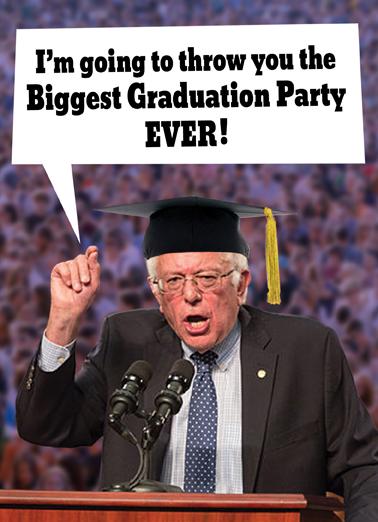 Bernie Grad Graduation Card Cover