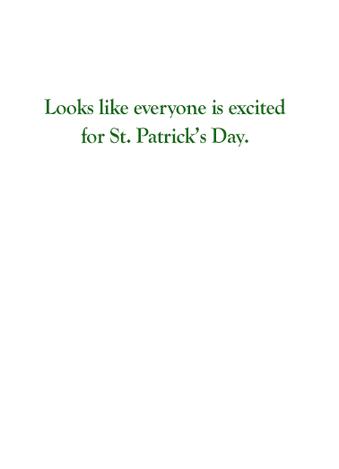 Bernie St Pat St. Patrick's Day Card Inside