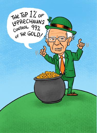 Bernie St. Pat Funny Political Ecard Cover