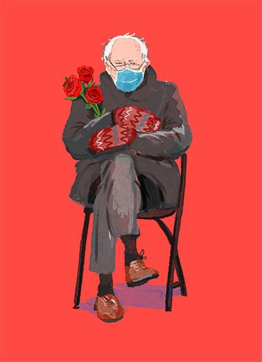 Bernie Valentine Valentine's Day Card Cover