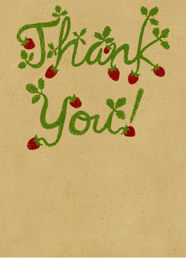 Berry Much Thank You Card Cover
